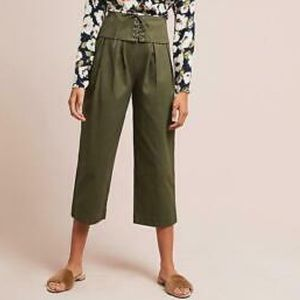 Anthropologie Corseted Crop Wide leg NWT Small